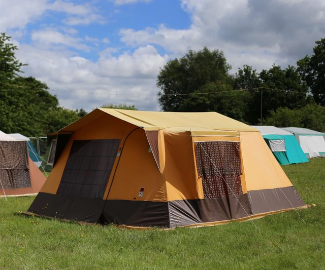 Pre-Pitched Tents