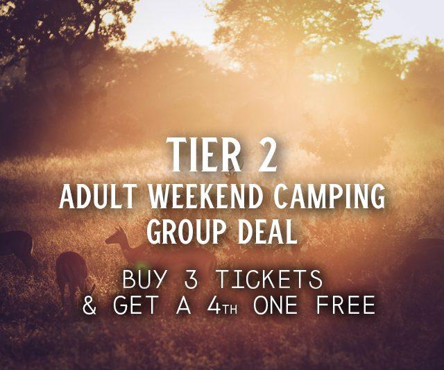 Tier 2 Weekend Camping Group Deal