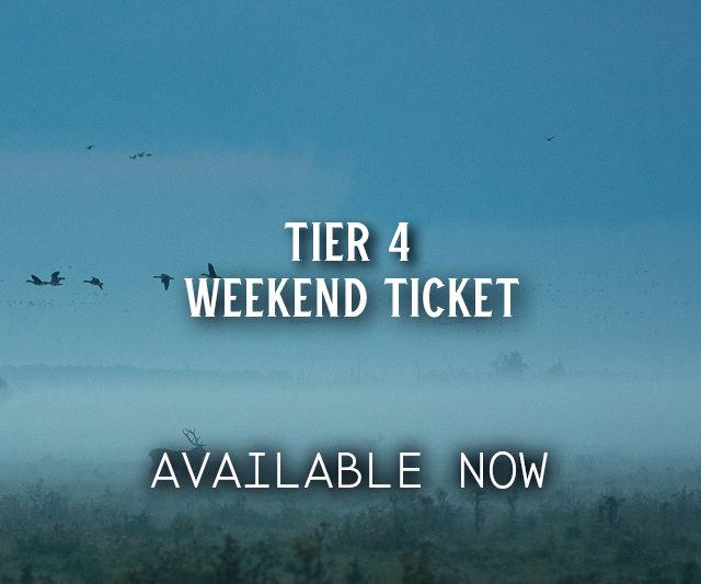 Adult weekend Tickets from £140
