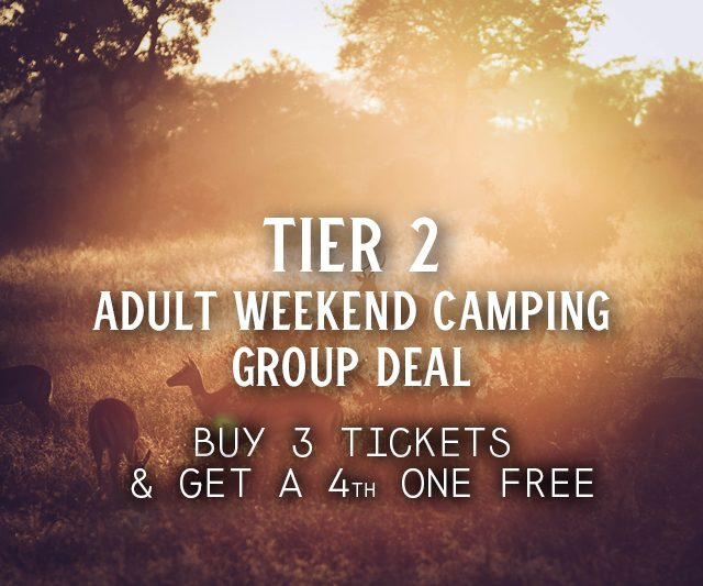 Tier 2 Weekend Camping Group Deal